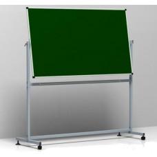 Доска магнитно-меловая школьная поворотная на стойке переносная 100х150 см