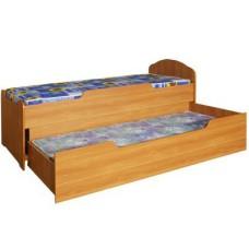 Кровать детская двухъярусная выкатная для д/сада