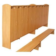 Шкаф для детского сада, 6 секций