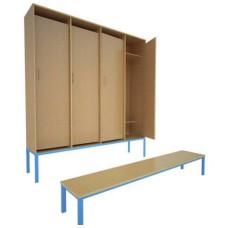 Шкаф для детского сада, 1 секция (на металлокаркасе)