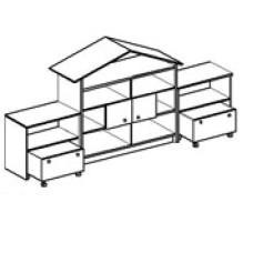 Игровая мебель стенка для детского сада - Домик