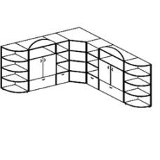 Игровая мебель стенка для детского сада - Городок