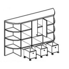 Игровая мебель стенка для детского сада - Крепость