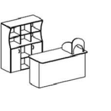 Игровая мебель стенка для детского сада - Магазин