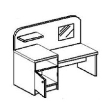 Игровая мебель стенка для детского сада - Парикмахер