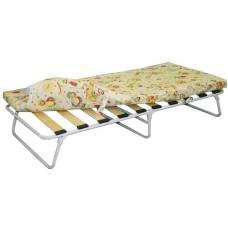 Раскладушка (кровать раскладная) детская ортопедическая с матрасом на ламелях