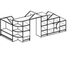 Игровая мебель стенка для детского сада - Теремок