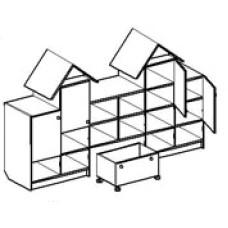 Игровая мебель стенка для детского сада - Замок