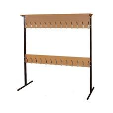 Вешалка для школьного гардероба двухсторонняя 24 места
