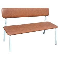 Скамья для гардероба школы, со спинкой, мягкая, 150х40х44