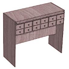 Шкаф каталожный для формуляров 12 ящиков