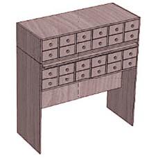 Шкаф каталожный для формуляров 24 ящика
