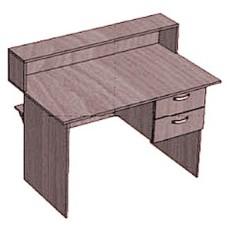Стол-кафедра с тумбой 2 ящика