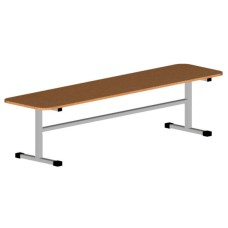Скамья для школьного спортзала низкая ЛДСП 150х30х27 см