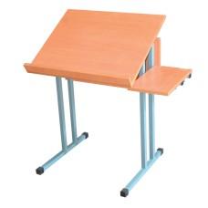 Парта школьная для кабинета черчения с наклоном, одноместная
