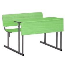 Парта со стульями для школы ученическая двухместная