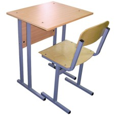 Парта со стулом школьная одноместная (комплект)