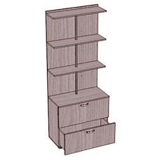 Стеллаж-шкаф с 2 ящиками, пристенный
