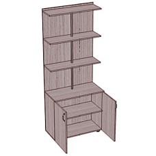 Стеллаж-шкаф с ящиками, пристенный
