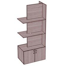Стеллаж-шкаф разделительный 2-сторонний