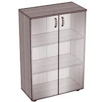 Шкаф со стеклом закрытый низкий