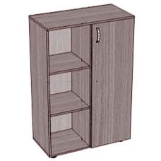 Шкаф с дверкой и полками низкий