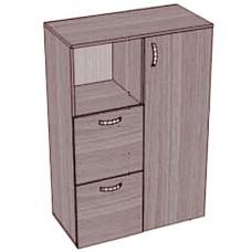 Шкаф с дверкой, нишей и выдвижными ящиками низкий