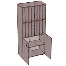 Шкаф с ячейками и 2 дверками