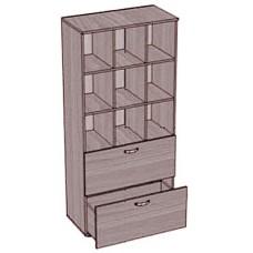 Шкаф с большими ячейками и 2 выдвижными ящиками