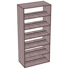 Стеллаж-шкаф 5 полок 2-сторонний