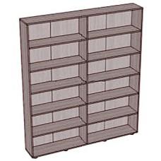 Стеллаж-шкаф 5 полок широкий