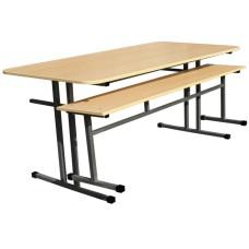 Обеденная зона школьная, 6-местная (стол +2 скамейки)