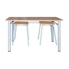 Обеденная зона для школьной столовой, 4-местная (стол +4 табурета)