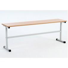 Скамья для школьной столовой 3-местная, ЛДСП/пластик 150см
