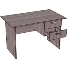 Стол письменный офисный, тумба с 2 ящиками