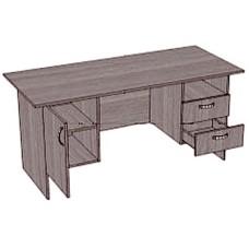 Стол письменный, 2 тумбы с 2 ящиками и полкой